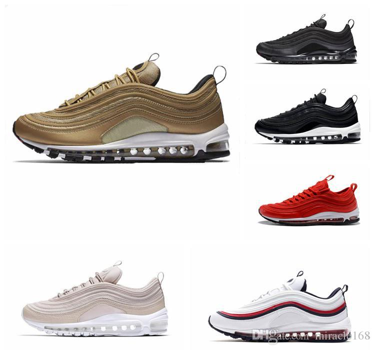 super popular 2b48f 681c9 Compre 2019 Nike Airmax 97 97s OG Moda Hombres Mujeres Cojín Transpirable  Low Running Shoes Barato Masaje Zapatillas De Deporte Planas Zapatos Al Aire  Libre ...