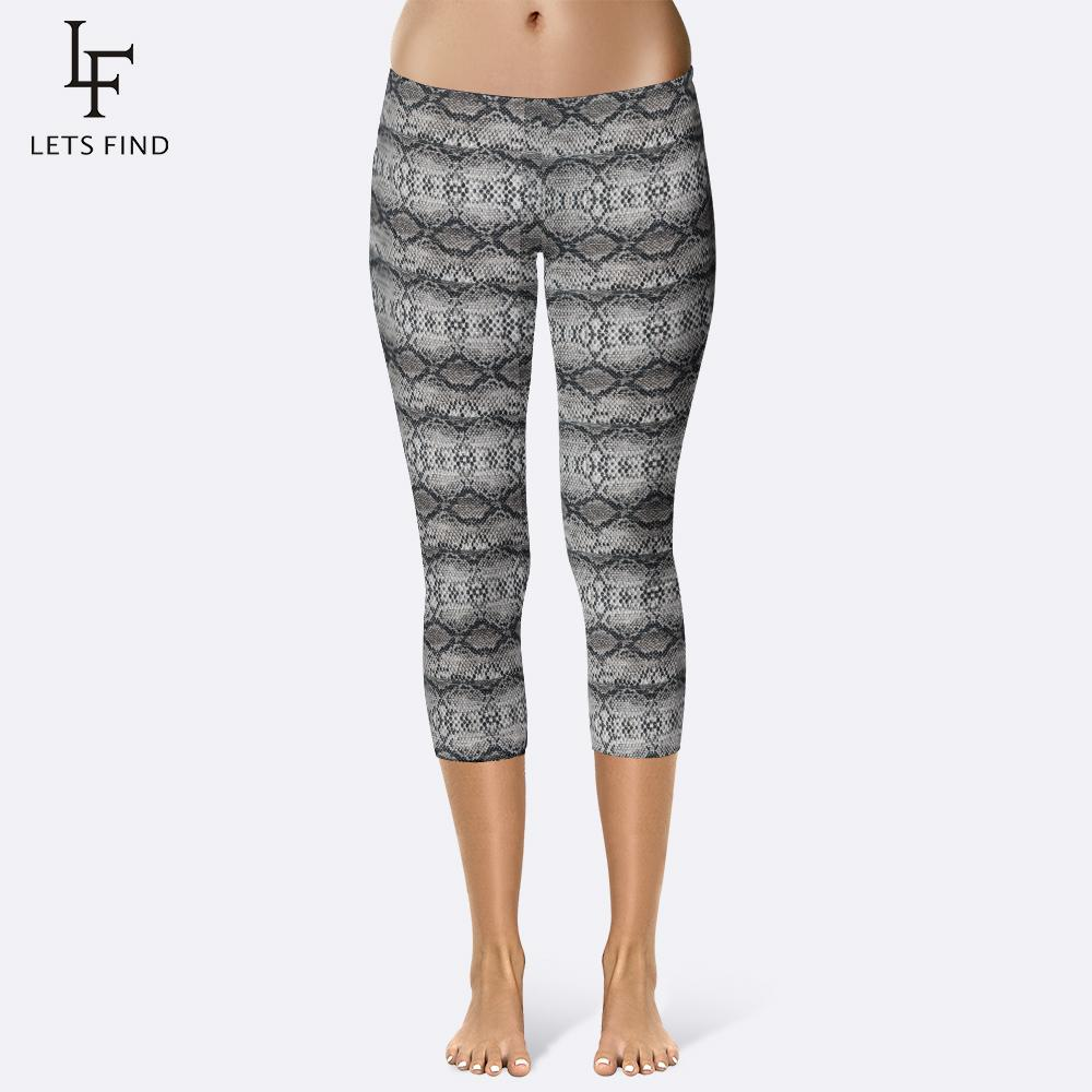 16ad7b52b256 2019 LetsFind Summer Fashion Women Capri Leggings Snakeskin Printed Pants  Plus Size Sexy Mid Calf 3/4 Fitness Movement From Qyzs001, $9.6 | DHgate.Com