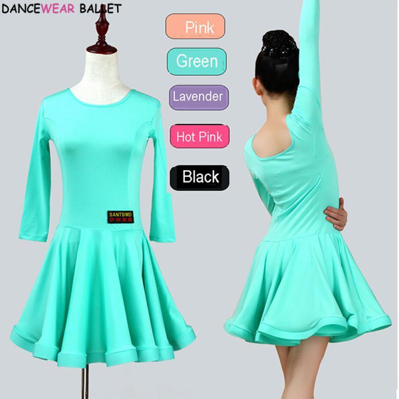 0a5bfaa98ea8 2019 New Girls Ballroom Dancing Waltz Tango Dress Kids Salsa Bachata Latin  Dance Costume Latin Dancing Clothes For Sale From Apparelone, $31.95 |  DHgate.Com