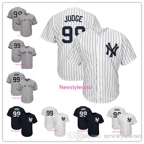 new concept 8bc7f ee192 Mens New York 99 Yankees Jerseys 99 Aaron Judge Jersey Factory Wholesale  White Dark Blue Gray Baseball Jersey