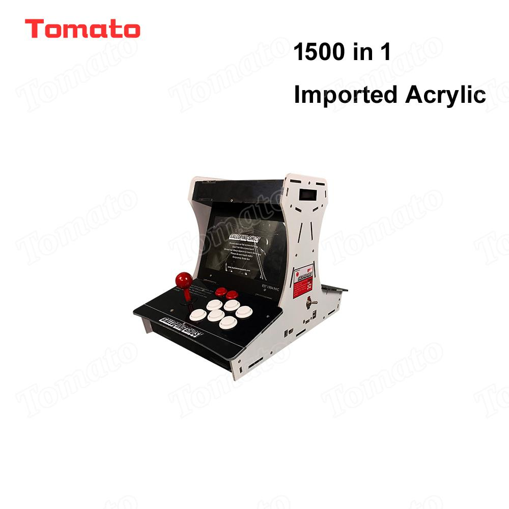 Tomato High quality Hot Sale Imported Acrylic 1500 in 1 Black Mini Multi Video Game Model Indoor Arcade Game Machine For 2 Players