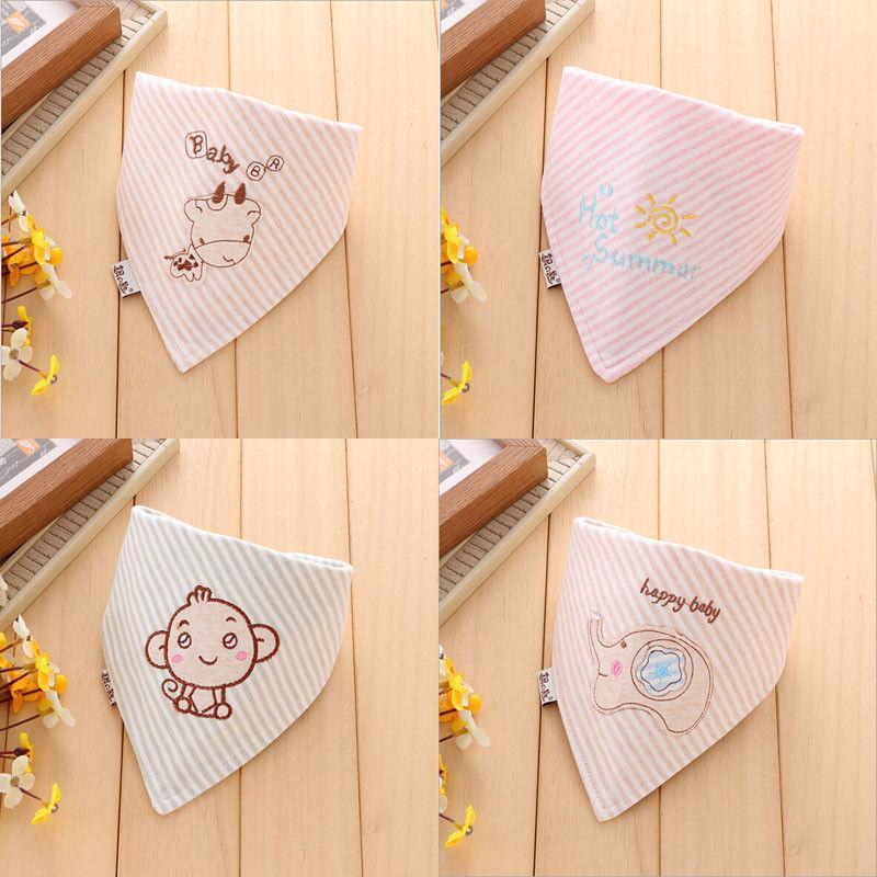 귀여운 만화 앞치마 먹이 타액 수건 드리블 삼각 두건 남여 유아 아기 머리 스카프