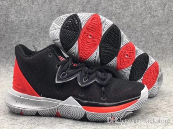 more photos 6a04f c8f4d Compre 2019 Irving 5 V Negro Rojo Zapatos De Baloncesto De Taco A02918 901  Para La Venta Irving V Black Magic Para Hombre Zapatillas Deportivas Tamaño  40 46 ...