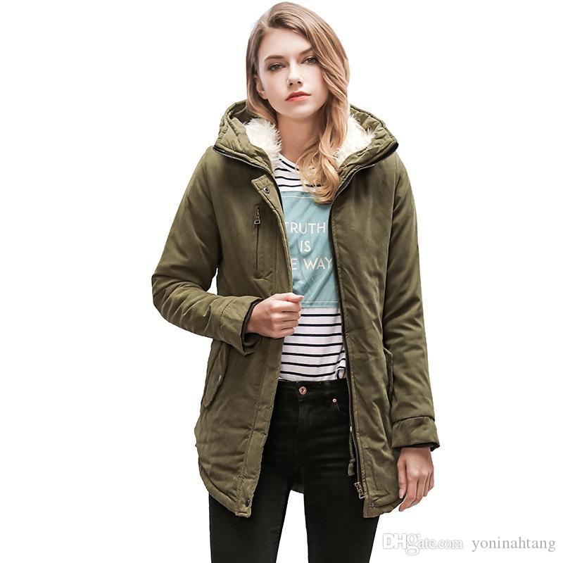 273b7b54a9d Winter Warm Jacket Women Thick Lamb Wool Trench Jacket Casual Thick Lambs  Wool Warm Coat Outwear Clothes Thick Coat COAT Warm Jacket Online with ...