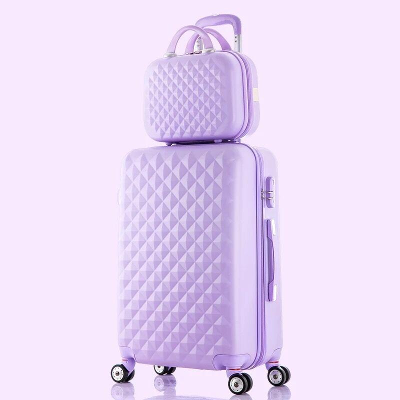 f2193e192 Kids Lovely Rolling Luggage Set Women Trolley Suitcase Girls Pink Cute  Spinner Brand Carry On Cosmetic Bag Travel Bag Vs Handbag Childrens  Suitcases ...