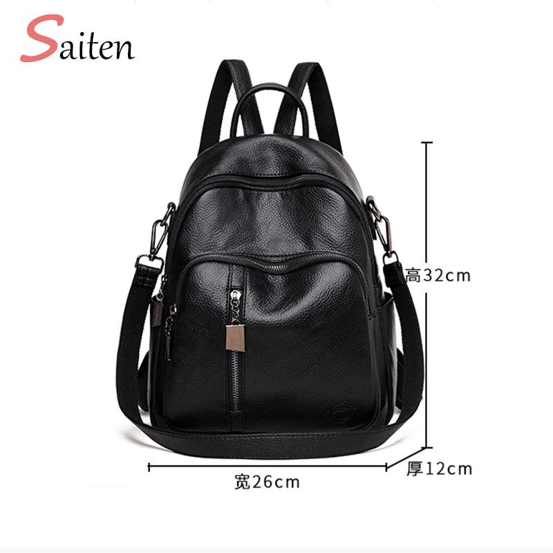 High Quality Youth PU Leather Backpacks for Teenage Girls Female ... 12523de20b71d