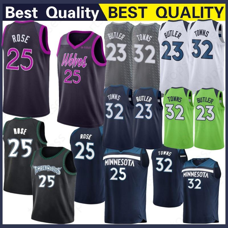 lowest price 9e5cf 1faa0 Minnesota 22 Andrew Wiggins Jersey Timberwolves 23 Jimmy Butler 32  Karl-Anthony Towns Basketball Wear Basketball Jerseys Top Quality