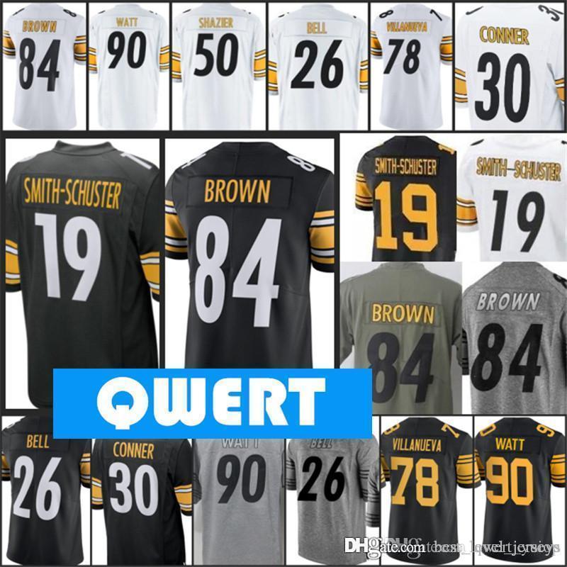 low priced 502eb 988d3 Mens Green Pittsburgh Steeler jerseys 19 Juju Smith-Schuster jersey top  selling jerseys 90 T.J. Watt 84 Antonio Brown jersey 34 Terrell Edmu