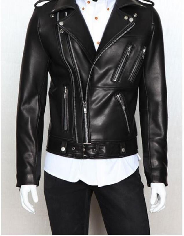 2d81fff23b 2019 Fall Jaqueta Couro Masculina New 2015 Foreign Trade Biker Jacket Mens  Leather Jackets And Coats Locomotive Zipper Male Leather Jacket From  Maoken