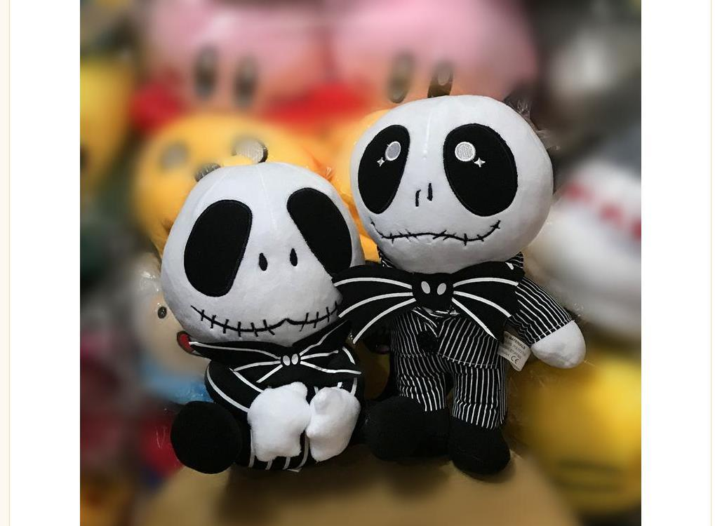 Nightmare Christmas Jack Plush Toy Cute Skull Standing Sit Jake stuffed animals Soft Dolls Skellington Plush Doll kids toys