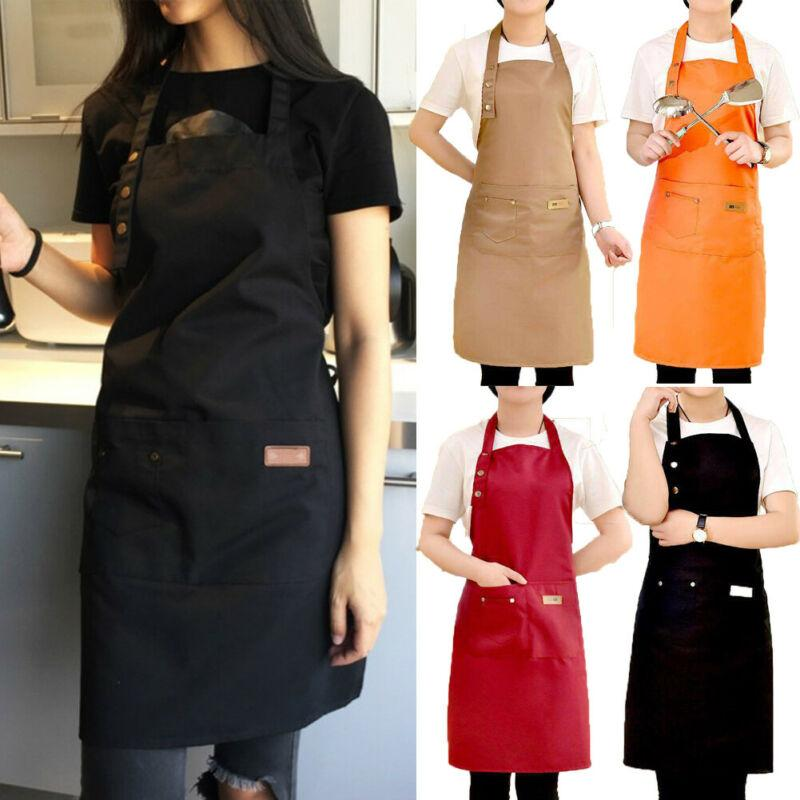 Kitchen Cooking Apron For Woman Men Chef Waiter Cafe Shop BBQ Hairdresser Aprons Bibs Kitchen