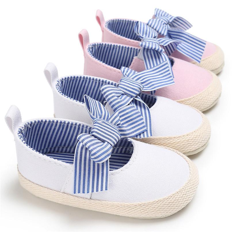 Summer Baby Shoes Toddler Baby Girl Canvas First Walker Baby Butterfly-knot Dance Shoes NDA84L24