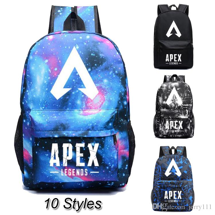 10 Styles 3D Printed Fluorescence Designer Backpacks APEX LEGENDS Kids  Backpacks Kids School Bags Designer Bags Kids Gifts DHL SS51 School  Backpack For Kids ...