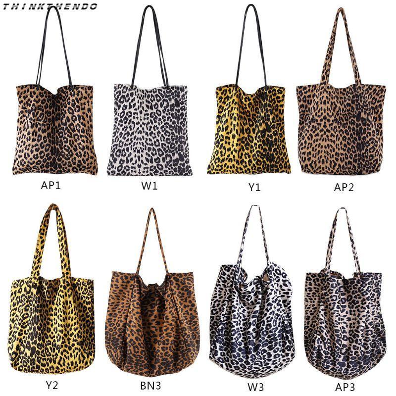 9260f71567d THINKTHENDO Fashion Women Leopard Print Handbag Shoulder Purse Lady Female  Vintage Messenger Satchel Shopping Tote Bag New