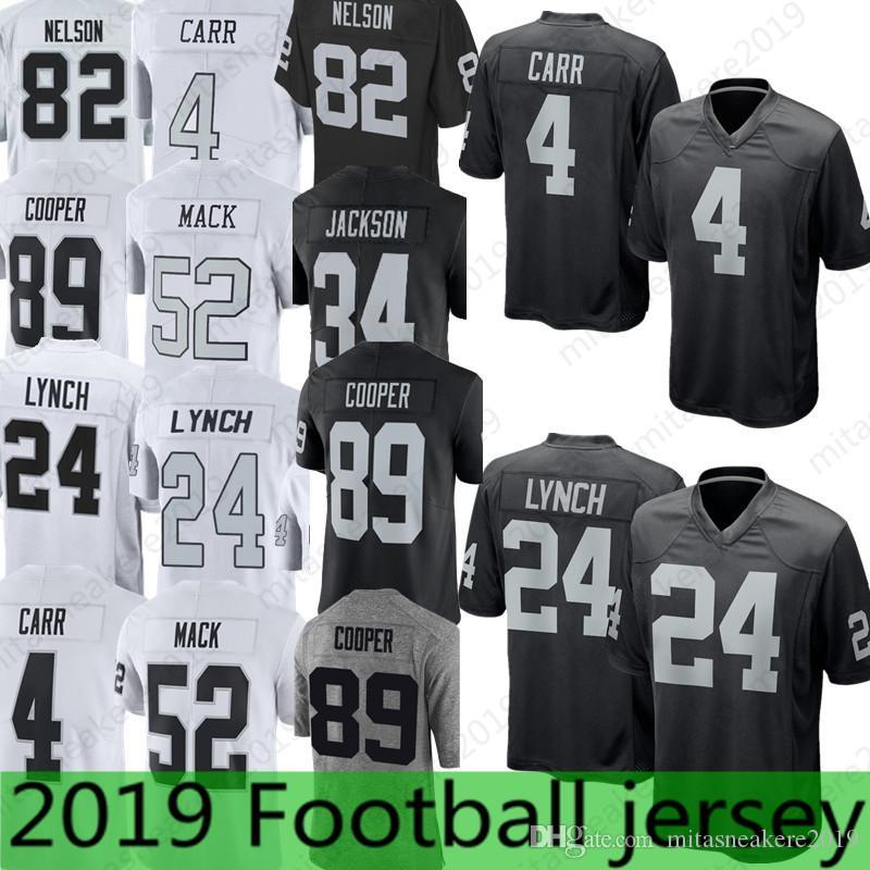 4 Derek Carr Oakland Raiders 24 Marshawn Lynch Jersey 34 Bo Jackson ... e87630c6e