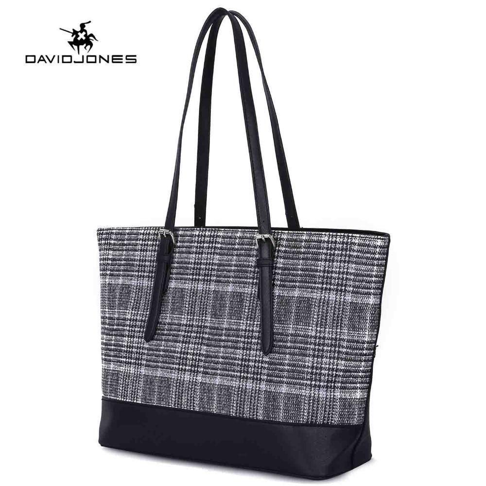 474d31f4e3c DAVIDJONES Women Shoulder Bags Pu Leather Female Handbag Large Lady  Patchwork Tote Bags Girl Brand Top Handle Bag Fashion Leather Bags For Women  Womens Bags ...