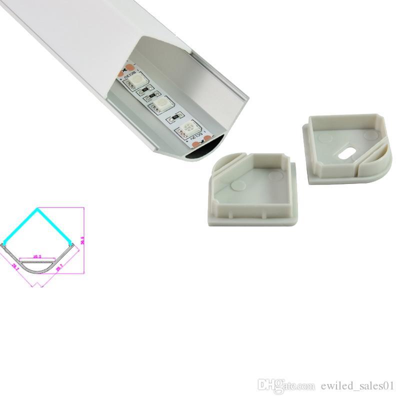 10 X 2M sets/lot L shape aluminum profile led 90 degree angle led aluminium  housing channel for led kitchen light