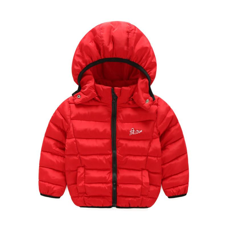 ae391e1e34e4 1 7Y Winter Boy Girl Down Jacket Hooded Coat Casual Parkas Baby ...