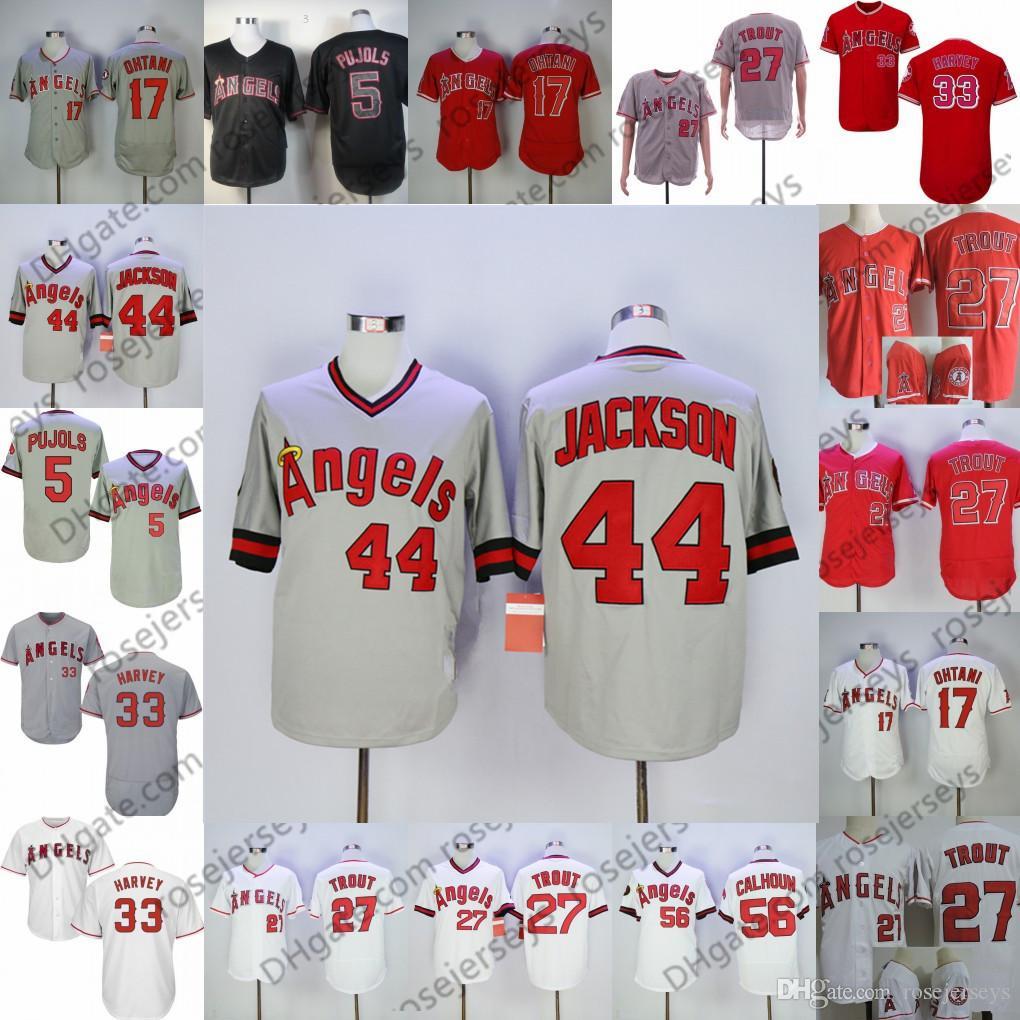 b38fae17f 2019 2019 Angels Jersey Los Angeles  27 Vladimir Guerrero 29 Rod Carew 30  Nolan Ryan 44 Reggie Jackson 47 Griffin Canning Vintage Retired Player From  ...
