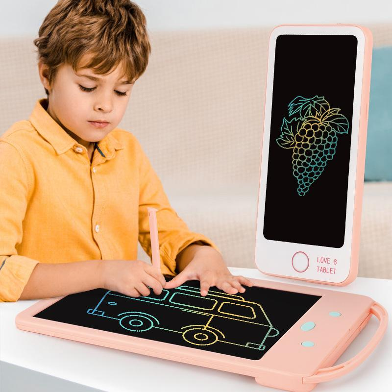 Children's LCD writing board 8.5 inch electronic graffiti drawing board intelligent dust-free magnetic light painting toy P119