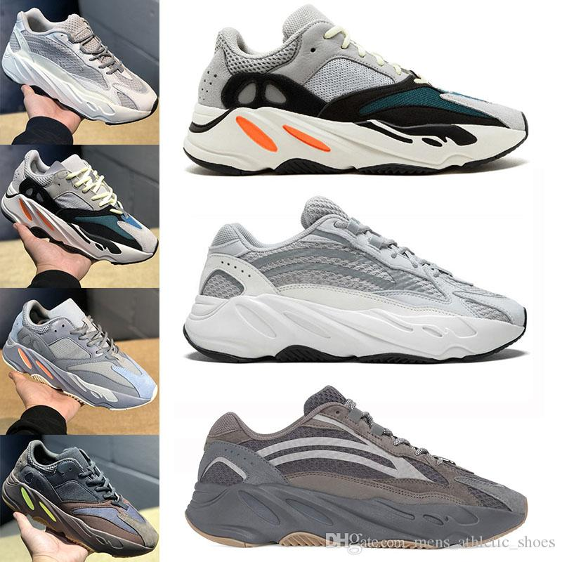 6dc57053f1069 Compre Adidas Yeezy Boost Sply 350 700 V2 Kanye West Sapatos De Marca Sply  350 Preto Branco Vermelho Tarja Verde Tênis De Corrida Beluga 2.0 Matiz  Azul Mens ...