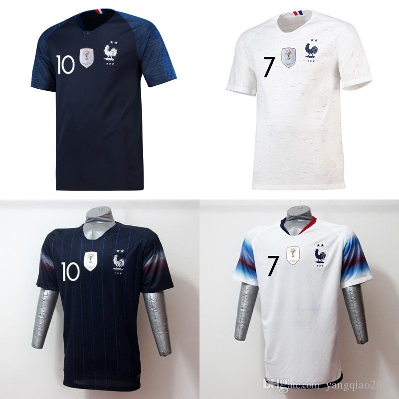 New 2019 2 Stars MBAPPE Soccer Jersey 2018 World Cup GRIEZMANN ... cace402e0