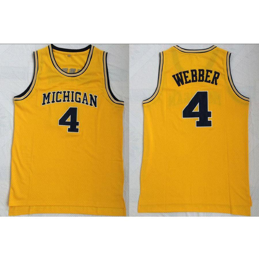 6c7b31bf4a26 2019 Mens Chris Webber Jersey Collection Michigan Wolverines College  Basketball Jerseys High Quality Stitched Name Number Size S 2XL From  Jerseyplant