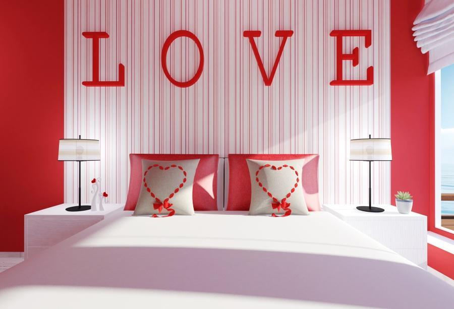Laeacco Tête de lit Amour Romantique Saint Valentin Lumière Enfant Bébé  Intérieur Photo Arrière-plans Photo Pour Studio