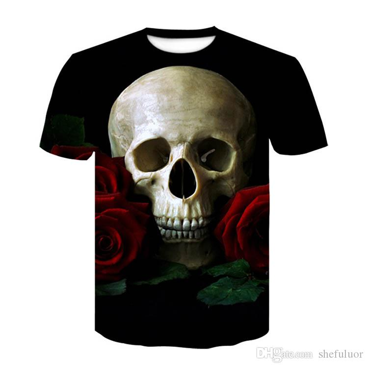 Cool Men Outdoor T-Shirts With Short Sleeves Cat Skull Ghosts Casual Wear Absorb Sweat Athletic Climbing Hiking Running comfortable