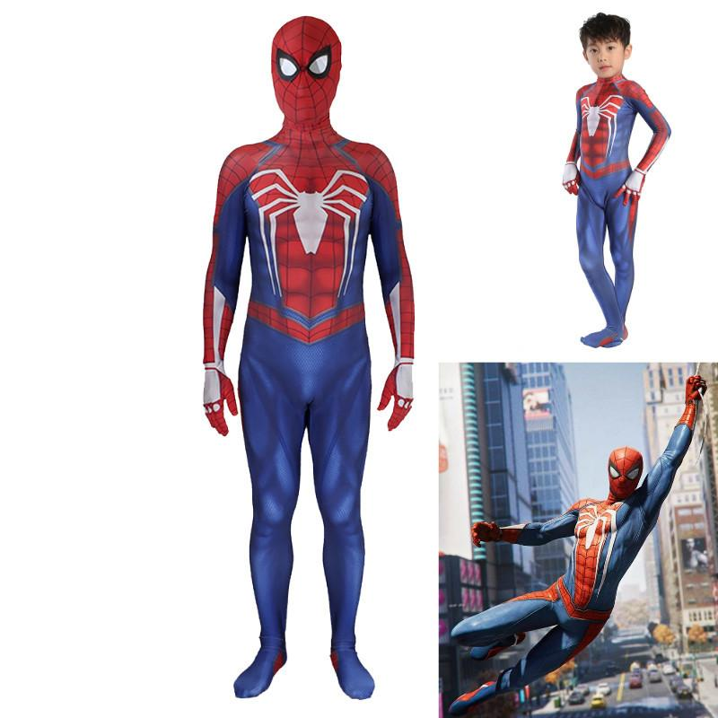 ovie & TV costumes halloween costume for kids spider spiderman ps4  insomniac suit game costume suit cosplay spider man adult children