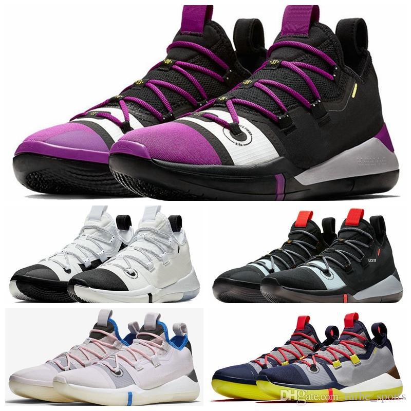 quality design 9855c c3950 Acquista 2019 Di Alta Qualità Kobe AD Uomini Scarpe Da Basket KB E Red  Black Toe Oreo Racer Blu Sneakers Sport Sneakers Con Scarpe Box A  93.38 Dal  ...