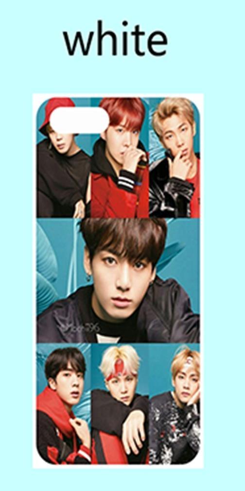 BTS JIN RAPMONSTER J-HOPE SUGA V JIMIN JUNGKOOK Soft TPU Phone Case iPhone5  SE 6 6S 7 7Plus 8 8 Plus X XS XS Max XR