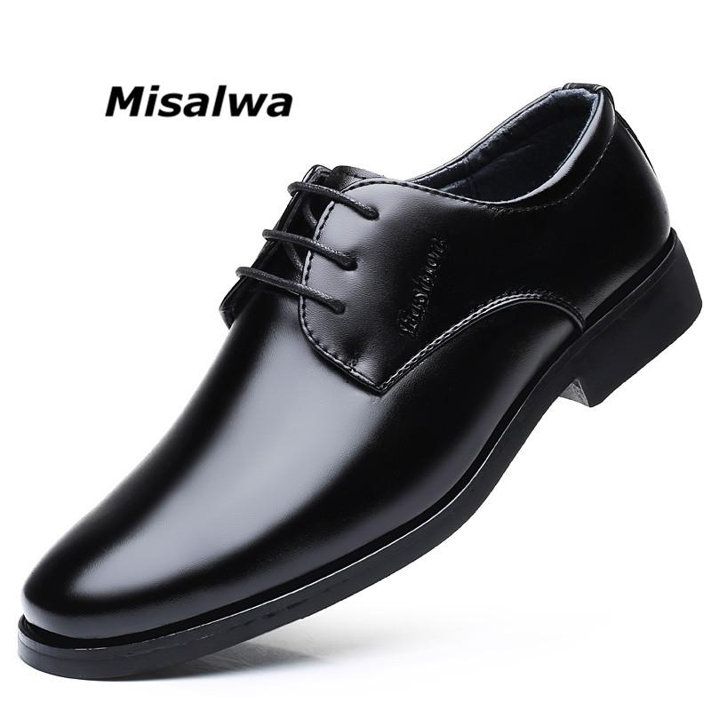 Shoes Elegant Leather Shoes Men Large Size 11 12 British Derby Shoes Business Man Pointed Toe Formal Dress Wedding Shoes Hight End Men's Shoes