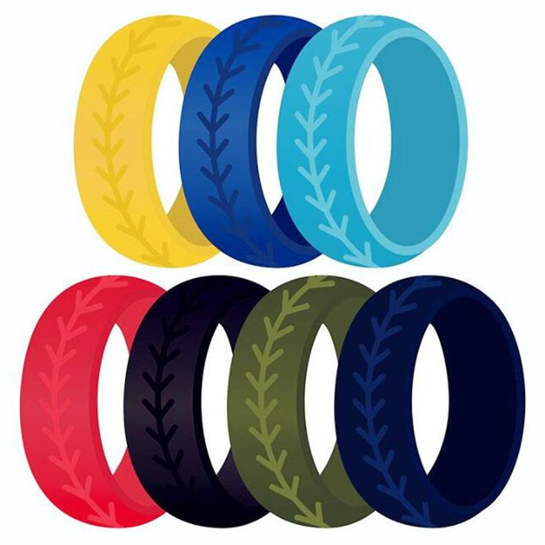 New Colorful Finger Rubber Pattern Rubber Hoop in silicone Rubber Band Ring Per Mech Protection Vape Mod Vape Vaporizzatore RDA Serbatoi Decorare
