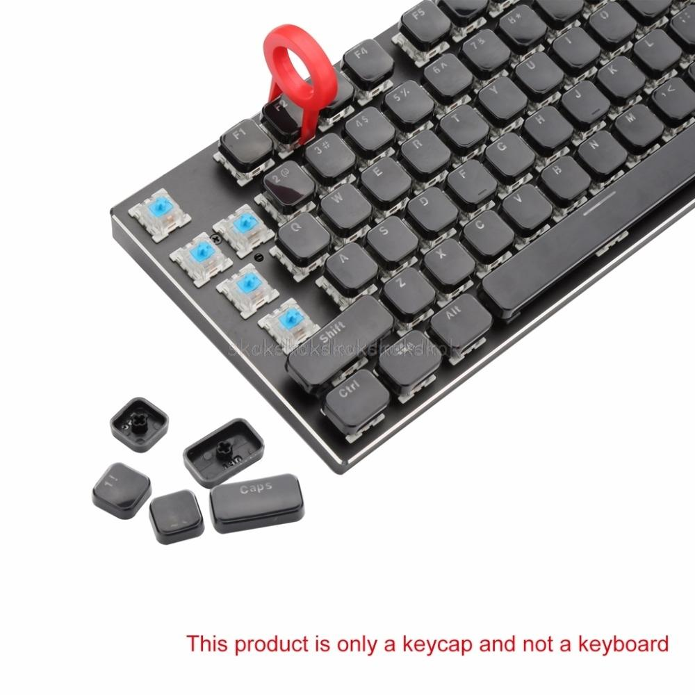 ad2e905a644 104 Keys Layout Low Profile Keycaps Set For Mechanical Keyboard Backlit  Crystal Edge Design Cherry MX With Key Caps Puller A11 Touch Keyboard Touch  ...