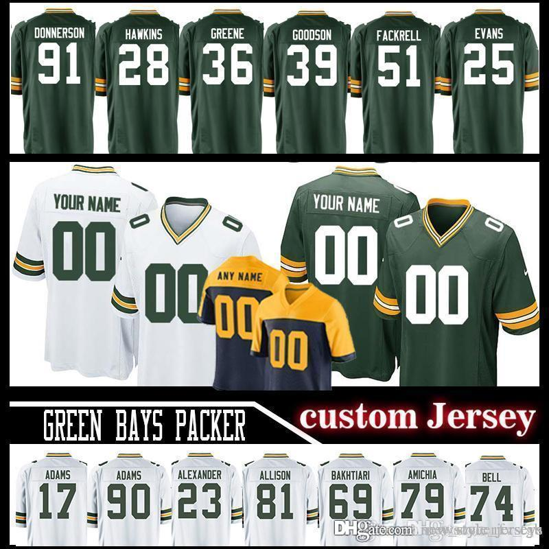 separation shoes 42227 bb6e9 Customized 33 Aaron Jones Green Bays Aaron Rodgers Packer jerseys Men 92  Re0 Mason Crosby jersey Allison Geronimo 96 Muhammad Wilkerson