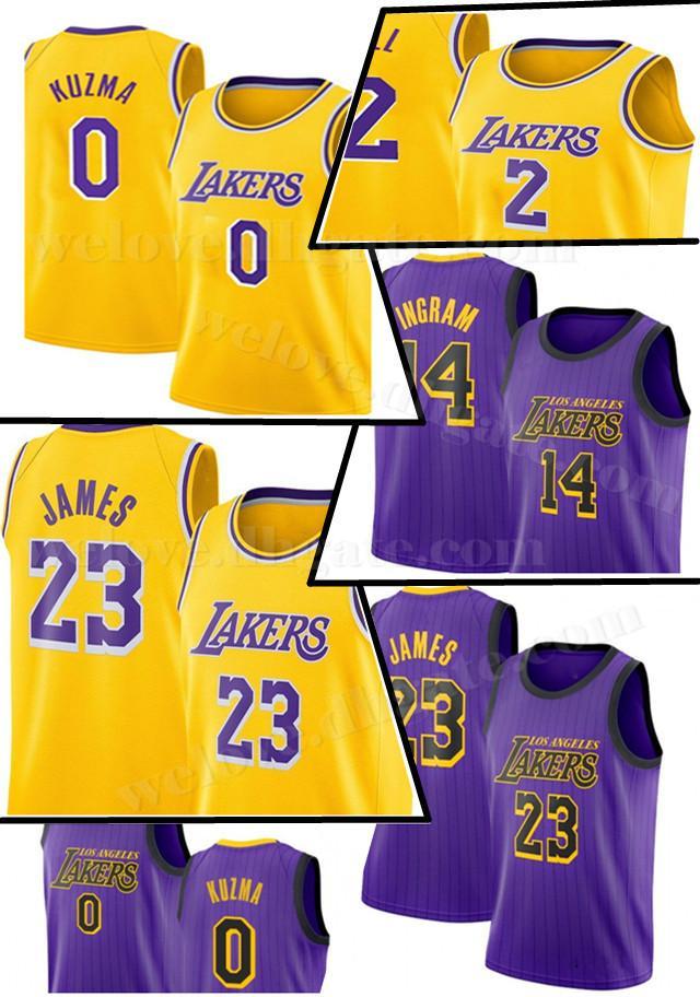 4a500705e484 2019 Cheap Sale LeBron 23 James Jersey Lonzo 2 Ball Kyle 0 Kuzma Kobe 24 Bryant  Jerseys Adult Los Angeles Basketball Jerseys From Welove jersey