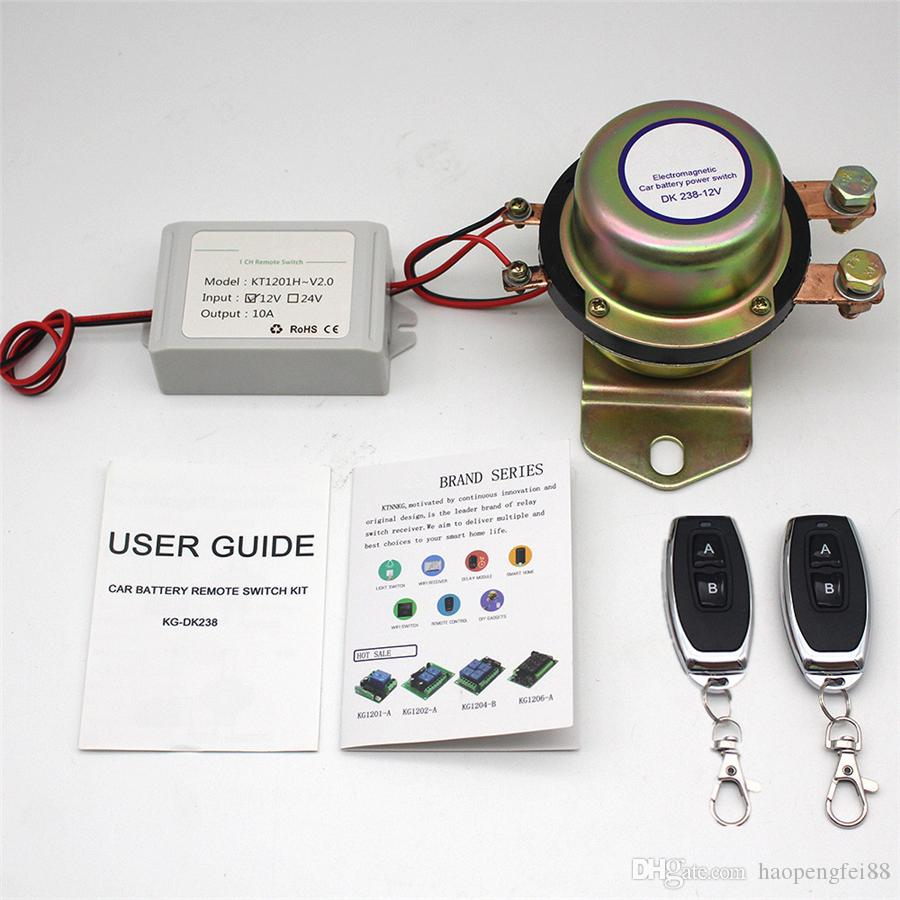 12V Universal Anti-Theft Car Battery Power Cut Control Main Kill Switch  Immobilizer 2 Pcs Wireless Remote