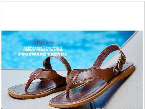 5b6c346c076d Flip Flops Men Sandals Summer Slippers Shoes For Casual Walking ...