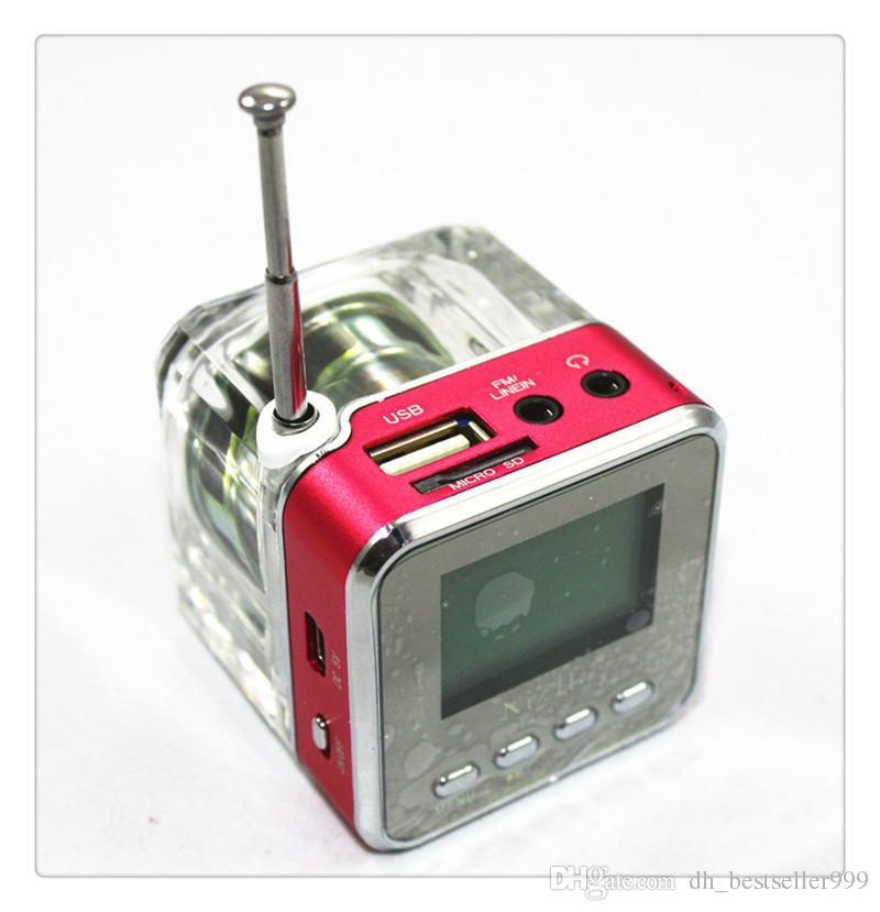 Disk Speaker Mini Digital Portable Music MP3/4 Player Micro SD/TF USB High Quality Disk Speaker FM Radio Red Blue Green