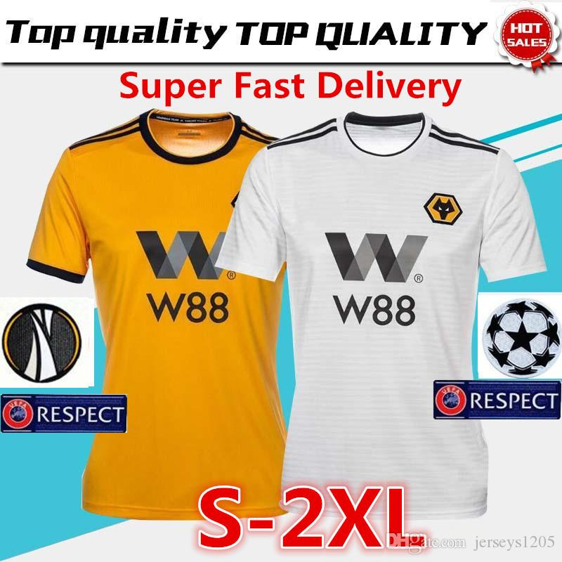 c456f1c79f2 2019 Wolverhampton Wanderers Soccer Jersey Tshirt 18/19 NEVES Home Wolves  Football Shirt COSTA T Shirt Adult Shirts Men Kids Kit Camiseta Maillot  From ...
