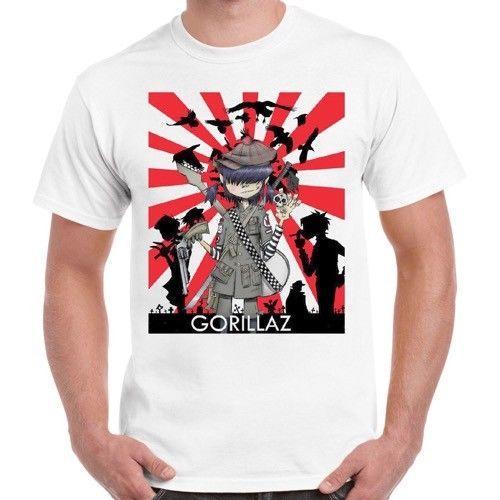 202c702d Gorillaz Band Alternative Hip Hop Rock Brit Band Blur Albarn Retro T Shirt  171 Tee Designs Neck T Shirts From Lovely069, $11.63| DHgate.Com