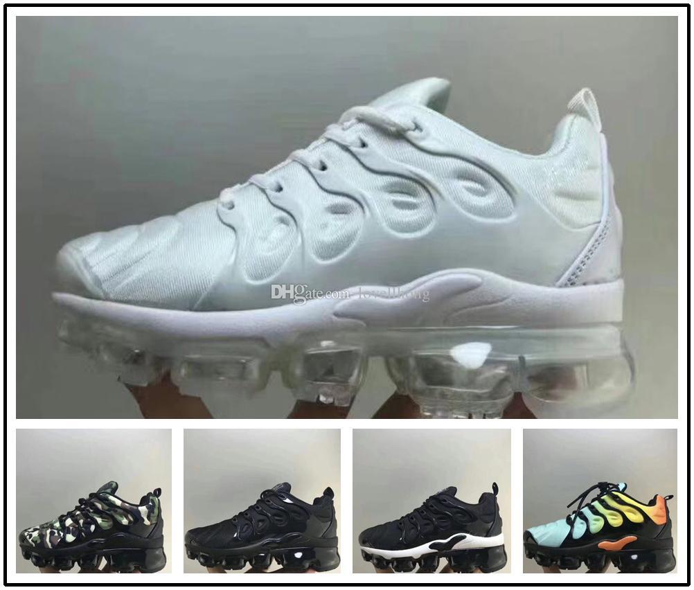 b4794a280f3a Acheter Nike Air Max TN Plus Vapormax Airmax Nouveaux Enfants Plus Tn Blanc  Noir Vert Rouge Parent Enfant Running Chaussures Garçon Fille Enfants  Baskets De ...