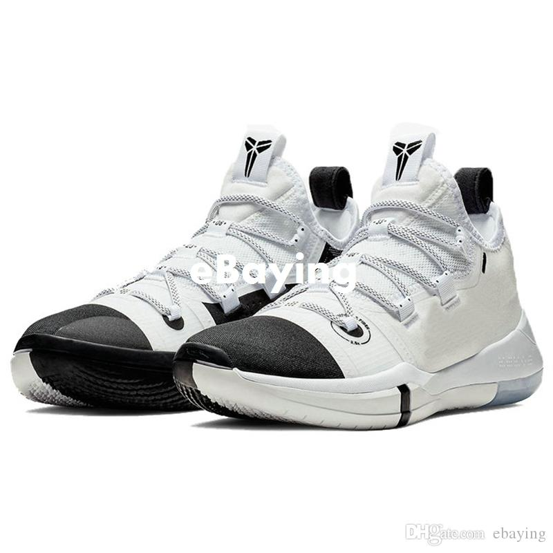 4354538ec1cb AAA+ Quality Kobe AD EP Black Toe Mamba Day Sail Multicolor Men Basketball  Shoes Wolf Grey Orange Black White Mens Trainers Sports Sneakers Mens Shoes  ...