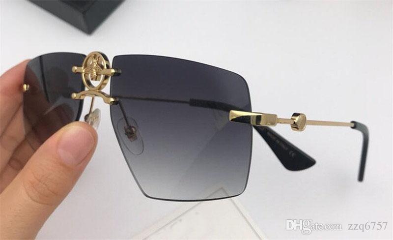 284727f734 2018 New Fashion Designer Sunglasses 1835 Frameless Crystal Cutting ...