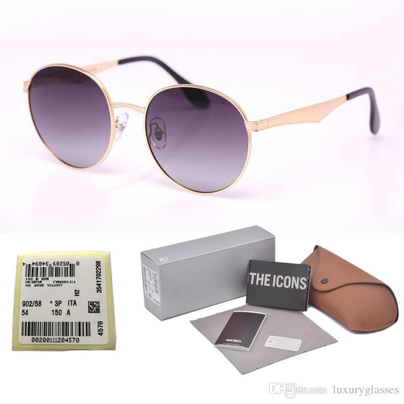 407521910697b High Quality Round Polarized Sunglasses Men Women Brand Designer Sun Glasses  Metal Frame Polaroid Lens With Original Box And Label Glasses Online  Polarized ...