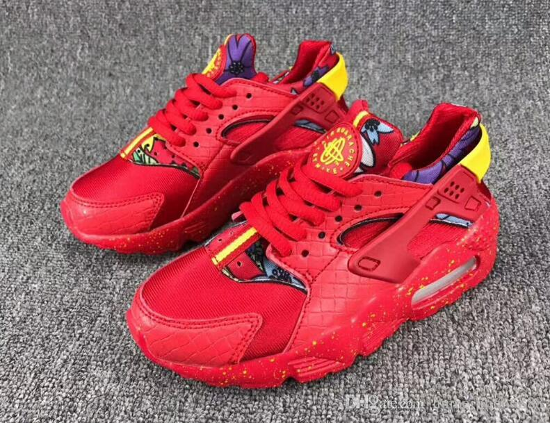 release date 53e24 2869a Air Huarache Ultra Kids Running Shoes Infant Children Huaraches Sneakers  Huraches Designer Hurache Casual Baby Boys Girls Red Trainers 28-35