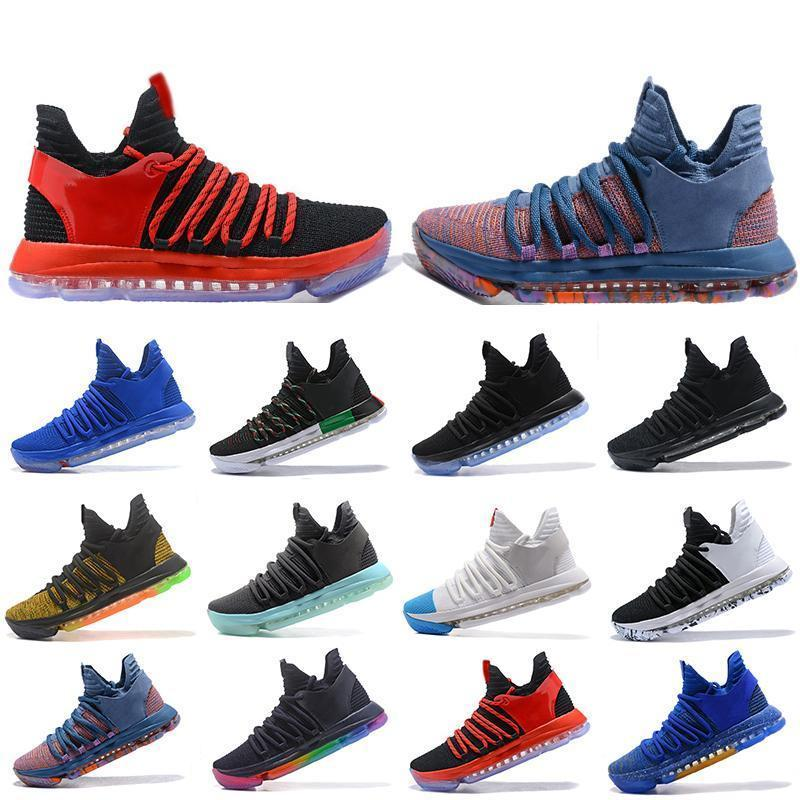 Cheaper New Zoom Kd 10 Mens Basketball Shoes Be True Bhm Celebration All Star Fruit Pulp Igloo Designer Trainers Sports Sneakers Us 7-12