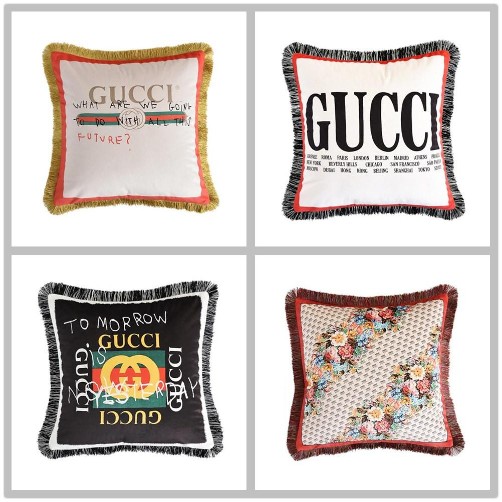 throw pillow luxury New thick super soft precision velvet double-sided environmental protection pattern printing sofa cushion pillowcase