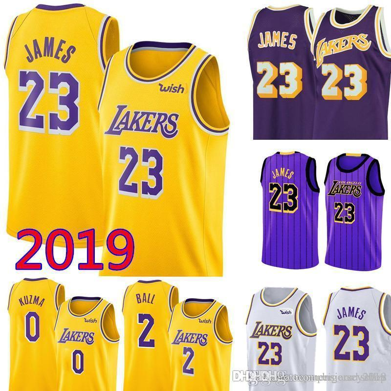 super popular fa8f4 bcac0 23 LeBron James Los Angeles James Laker Jersey Mens Swingman Jersey - Icon  Edition Embroidery Basketball Jerseys S-XXL